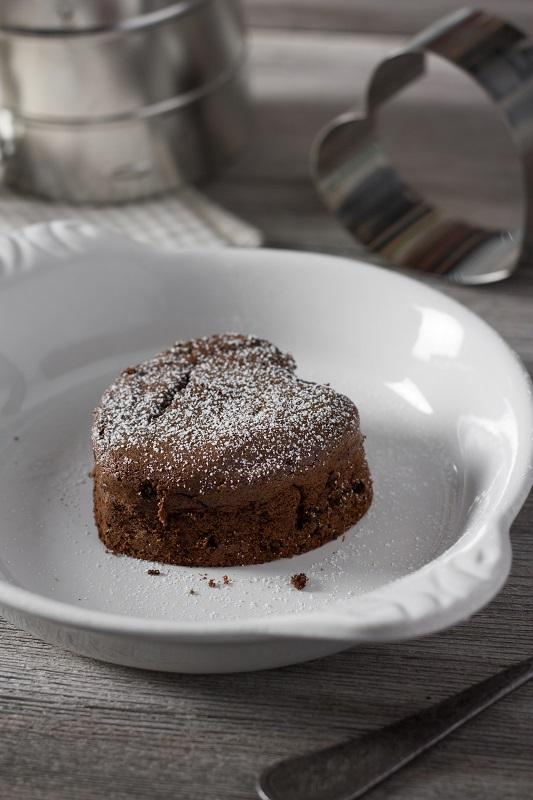 Fondant au chocolat et crème de Pruneau